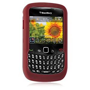 Blackberry Curve 8520 8530 Soft Gel Silicone Skin Cover Protective Case RED
