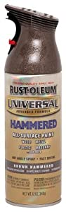 Rust-Oleum 245218 Universal Advance Formula Spray Paint, Brown Hammered, 12-Ounce
