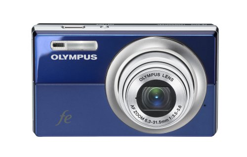 Olympus Fe-5010 12Mp Digital Camera With 5X Optical Dual Image Stabilized Zoom And 2.7 Inch Lcd (Blue)