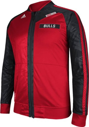 Chicago Bulls Adidas 2013 On-Court Full Zip Track Jacket (Small) at Amazon.com