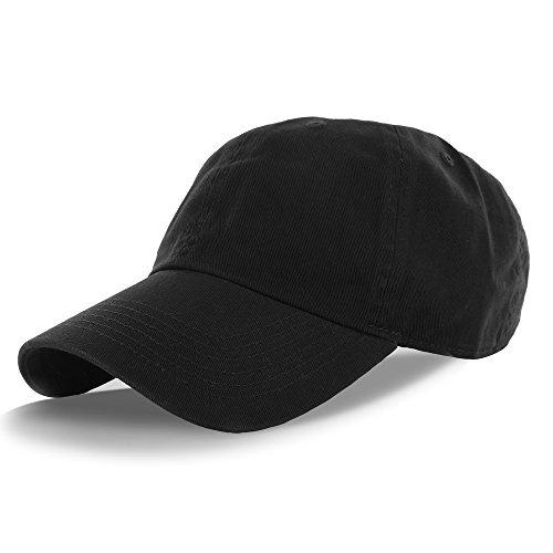 Plain 100% Cotton Hat Men Women Adjustable Baseball Cap ...