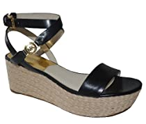 Hot Sale MICHAEL Michael Kors Women's Jalita Charm Sandal Shoe (Black, 9.5)