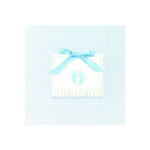 Baby Soft Blue Beverage Napkin