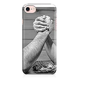 Motivatebox - Guys Arm Wrestling Apple Iphone 7 cover- Matte Polycarbonate 3D Hard case Mobile Cell Phone Protective BACK CASE COVER. Hard Shockproof Scratch-Proof Accessories