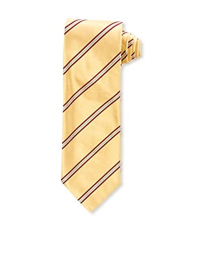 E. Marinella Men's Diagonal Striped Tie, Yellow