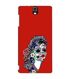 EPICCASE Girl with Flower Essence Mobile Back Case Cover For Infocus M330 (Designer Case)