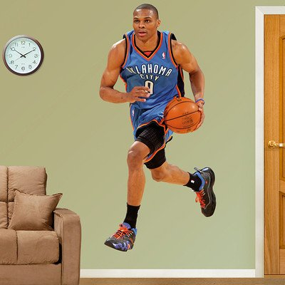 Buy Oklahoma City Thunder NBA Russell Westbrook Fathead 3'W x 6'4H- HUGE! by Fathead