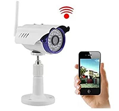Security Camera, NexGadget Outdoor Waterproof WiFi Wireless IP Camera, IR-CUT HD Night Vision, Motion Detection Alert, Plug&Play Home Surveillance System Bullet Camera, White