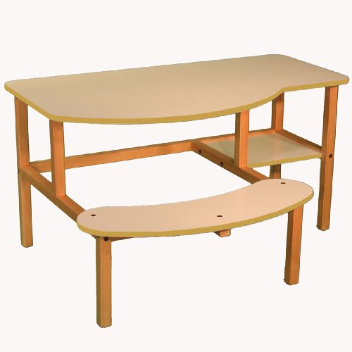 Buy Low Price Comfortable Wild Zoo Furniture B-D WHT-TAN-WZ Grade School Buddy Computer Desk in White with Tan Trim (B0027AIN6Y)