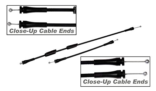 apdty 035462 door latch cable set fits rear right. Black Bedroom Furniture Sets. Home Design Ideas