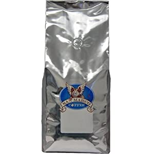 San Marco Coffee Whole Bean Flavored Coffee, Almond Amaretto, 2 Pound
