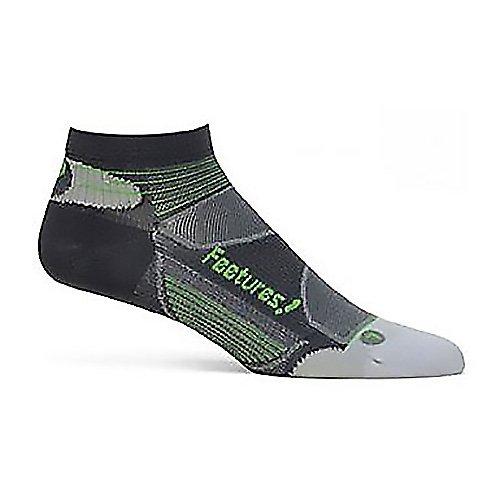 Feetures Men'S Elite Ultra Light Low Cut Socks, Carbon/Electric Green, Medium (Men'S 6-8.5 / Women'S 7-9.5)