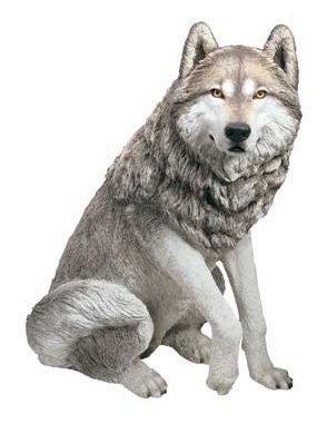 Sandicast® Adult Wolf Sculpture