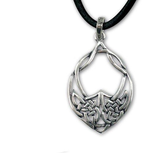 Ciondolo a forma di nodo celtico amuleto argento drachensilber etNox - protezione amuleto - con cinturino in pelle