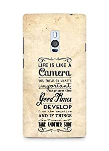 AMEZ life is like a camera Back Cover For OnePlus Two