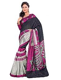 Samskruti Sarees Women Art Silk Printed Designer Saree(15168)