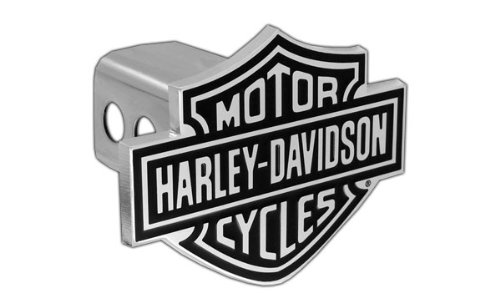 Read About Harley Davidson Black Fill Bar & Shield Emblem Chrome Hitch Cover