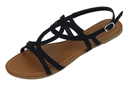 shoes-18-womens-strappy-roman-gladiator-sandals-flats-thongs-shoes-9-black-2226