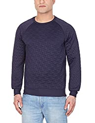 GAS Men's Polyester Sweatshirt (8059890931590_83867_Small_538-Blue and Black)