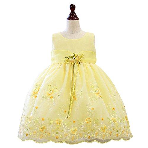 ベビードレス 301901 結婚式 ノースリーブ 花柄刺繍ドレス セレモニー 子供 ドレス フォーマル ワンピース [プリンセスセレクション] Princess Selection
