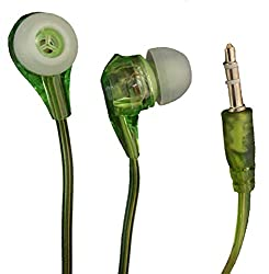 Silco MP3 Transparent Handsfree/ Earphone for Samsung, HTC, Sony_Green