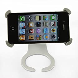 IMAGE rotation bracket stand fpr iPhone 4 Stand - Desktop Multi-View 360 Degree Rotation Holder Dock Stand