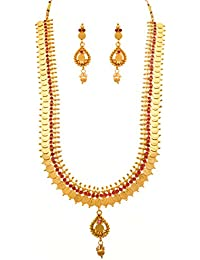 1 Gram Gold Formed Ethnic Laxmi Haar Best Deals With