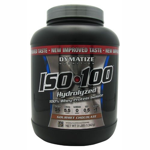 Dymatize Iso100 Hydrolyzed 100% Whey Protein Isolate Gourmet Chocolate -- 5 Lbs