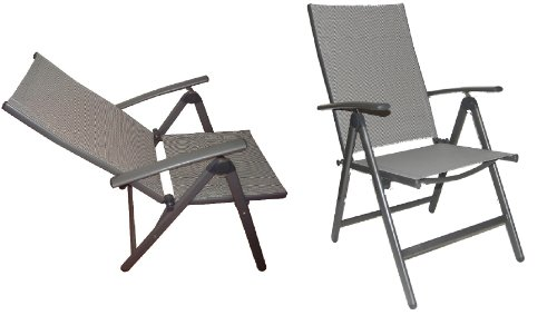 black friday elegant folding reclining high back patio dining chairs