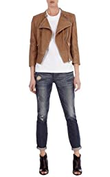 Essential leather biker jacket