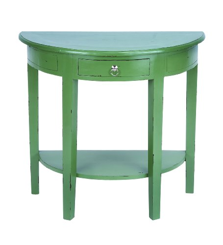 Cheap Elegant 30″ Wooden Console Table with Rich Green Finish (B009D4VFRG)