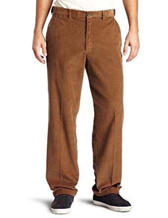 Haggar Mens Work To Weekend Hidden Expandable Waist Corduroy Plain Front Pant, Carmel,32x30
