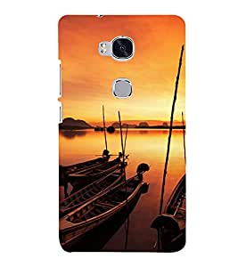 printtech Nature View Water boat Back Case Cover for Hwawei Honor 5X