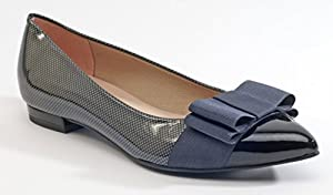 French Sole Women's On Stage Grey with Black Flat 6B