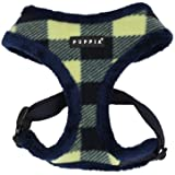 PUPPIA Authentic Waffle Harness-A for Pets, Medium, Navy