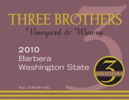 2010 Three Brothers Vineyard & Winery Columbia Gorge Barbera 750 Ml