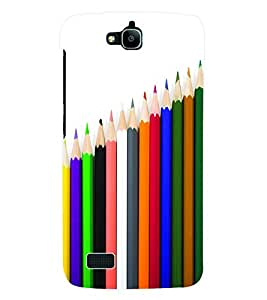 Fuson 3D Printed Coloured Pencils Designer Back Case Cover for Huawei Honor Holly - D646