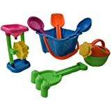 Dazzling Toys Kid's Toy Beach/sandbox Tool Playset - Castle Bucket 7 Piece SET