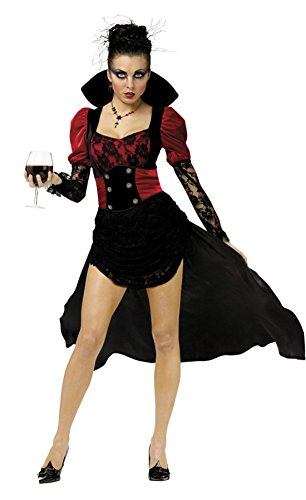 Funworld Womens Sexy Vampire Scary Vampiressa Theme Fancy Halloween Costume