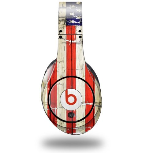 Painted Faded And Cracked Usa American Flag Decal Style Skin (Fits Original Beats Studio Headphones - Headphones Not Included)