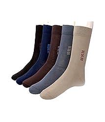 Alfa Popular Mens Socks Pack of 5 AMSPubPk5_Assorted Color
