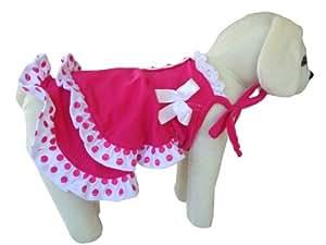 Amazon.com : Vestido de verano de moda para perros, fucsia, XX-Small