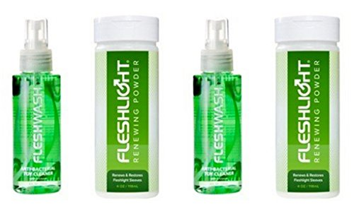 Fleshlight Care Pack Cleaner and Renewing Powder--Double Pack (Micro Pure Air Cleaner compare prices)