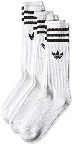 adidas-solid-crew-calze-unisex-multicolore-bianco-nero-39-42