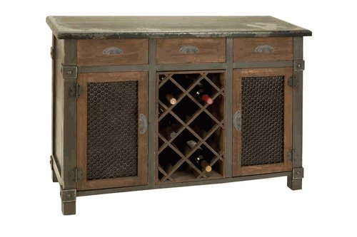 Decorative Vintage Wood Wine Cabinet