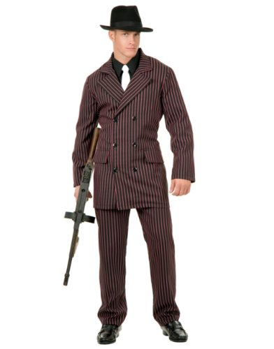 Adult Men's Roaring 20s 6 Button Gangster Costume Double Breasted Suit