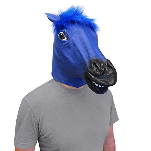 Blue Horse Head Mask Super Creepy (The Original) - Off the Wall Toys