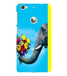 printtech Elephant Flowers Back Case Cover for LeEco Le 1s Eco
