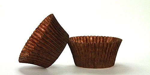 50pc Solid Brown Color Standard Size Cupcake Baking Cups Liners Wrappers (Solid Color Baking Cups compare prices)