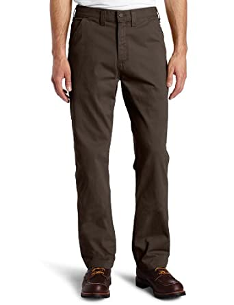 Carhartt Men's Washed Twill Dungaree Relaxed Fit Pant B324, Dark Coffee, 31x32